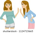 illustration of teenage twin... | Shutterstock .eps vector #1124715665