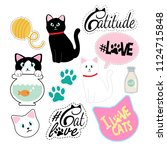 a set of clip art and patches... | Shutterstock .eps vector #1124715848