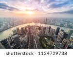 shanghai skyline and cityscape... | Shutterstock . vector #1124729738
