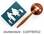 family law  family right... | Shutterstock . vector #1124730512