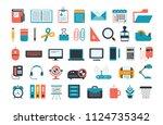 office supplies. set of...   Shutterstock .eps vector #1124735342