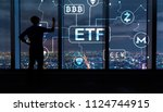 cryptocurrency etf theme with... | Shutterstock . vector #1124744915