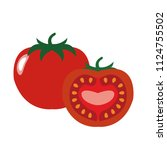 healthy organic tomato ... | Shutterstock .eps vector #1124755502