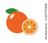 healthy organic orange ... | Shutterstock .eps vector #1124755568