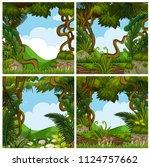 a set of beautiful jungle... | Shutterstock .eps vector #1124757662