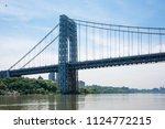 the george washington bridge is ...   Shutterstock . vector #1124772215