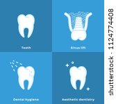 dental hygiene  aesthetic... | Shutterstock .eps vector #1124774408