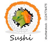 nigiri sushi illustration on a... | Shutterstock . vector #1124776475