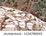 terraces and salt ponds in... | Shutterstock . vector #1124780045