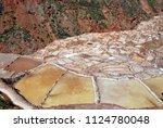 salt ponds  near cusco  peru | Shutterstock . vector #1124780048