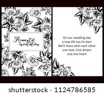 invitation with floral... | Shutterstock .eps vector #1124786585