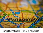 philadelphia on usa map | Shutterstock . vector #1124787005
