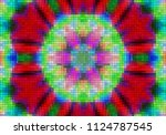 illustration of mosaic images ... | Shutterstock . vector #1124787545