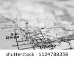 tijuana  usa map background | Shutterstock . vector #1124788358