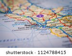 napoli  italy on the map | Shutterstock . vector #1124788415