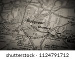 bridgeport  usa map background | Shutterstock . vector #1124791712