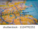 boston on usa map | Shutterstock . vector #1124792252