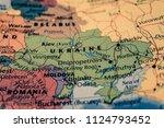 ukraine map background | Shutterstock . vector #1124793452