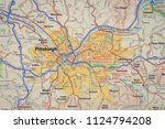 pittsburgh on us map   Shutterstock . vector #1124794208