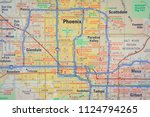 phoenix on usa map | Shutterstock . vector #1124794265