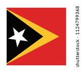 flag of east timor east timor... | Shutterstock .eps vector #1124799368
