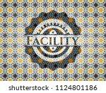 facility arabesque badge....   Shutterstock .eps vector #1124801186