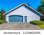 big custom made luxury house... | Shutterstock . vector #1124802005
