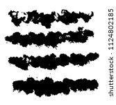 grunge ink brush strokes.... | Shutterstock .eps vector #1124802185
