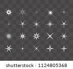set of vector glowing light... | Shutterstock .eps vector #1124805368