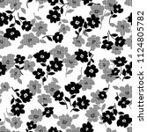 flower illustration pattern  i... | Shutterstock .eps vector #1124805782