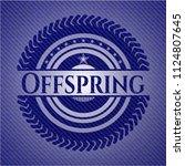 offspring emblem with denim...   Shutterstock .eps vector #1124807645