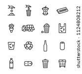 trash garbage related black... | Shutterstock .eps vector #1124808212