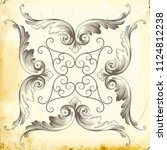 retro baroque decorations... | Shutterstock .eps vector #1124812238