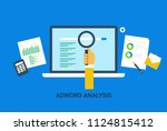 adwords analysis  adwords... | Shutterstock .eps vector #1124815412
