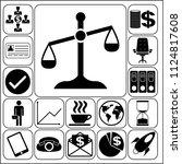 set of 17 business symbols of...   Shutterstock .eps vector #1124817608