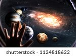 solar system planets and milky... | Shutterstock . vector #1124818622