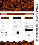 dark orange vector ui kit in...