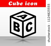 illustration of abc cube vector ... | Shutterstock .eps vector #1124825555