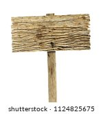 wooden sign isolated on white... | Shutterstock . vector #1124825675
