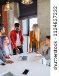 diverse multiethnic group of... | Shutterstock . vector #1124827232