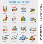 business analysis vector icon... | Shutterstock .eps vector #1124843462