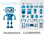 diy set of vector robots... | Shutterstock .eps vector #1124844905