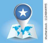 world map centered on africa... | Shutterstock .eps vector #1124844995