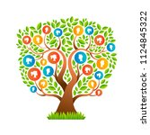 family tree template concept... | Shutterstock .eps vector #1124845322