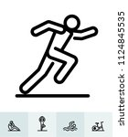 fitness icons with white... | Shutterstock .eps vector #1124845535