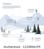 winter ski resort  route... | Shutterstock .eps vector #1124846195