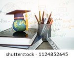 graduated study abroad... | Shutterstock . vector #1124852645