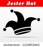 illustration of jester hat... | Shutterstock .eps vector #1124853662