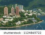 idyllic landscape of hong kong. ... | Shutterstock . vector #1124865722
