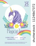 magical time   party  birthday... | Shutterstock .eps vector #1124867372